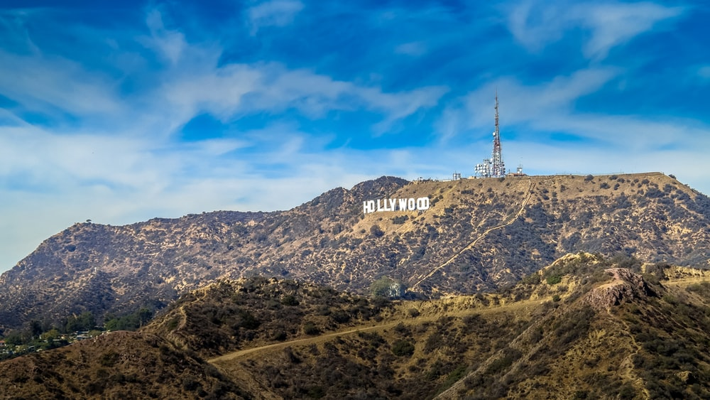Hollywood signage on hill