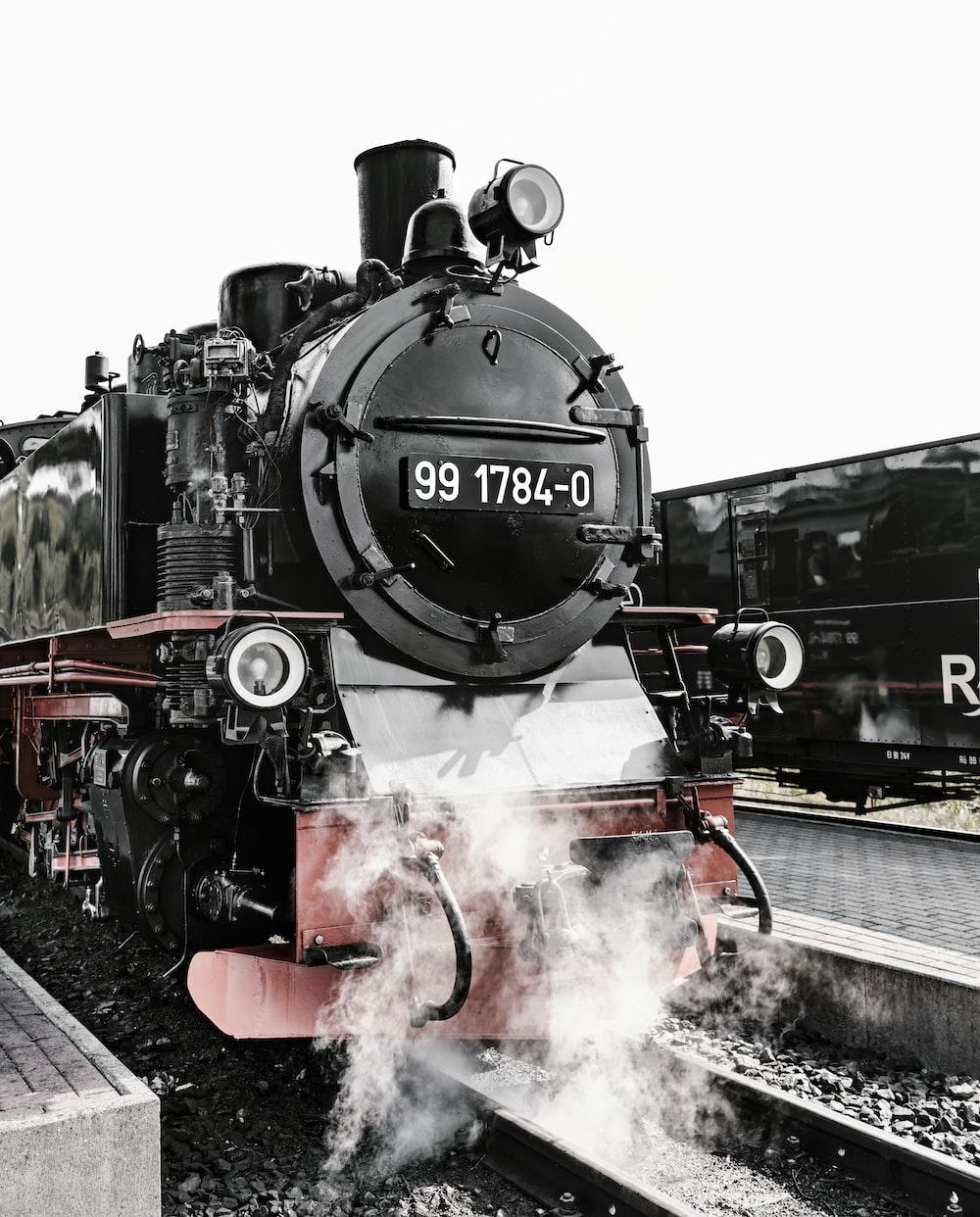 black steam engine train