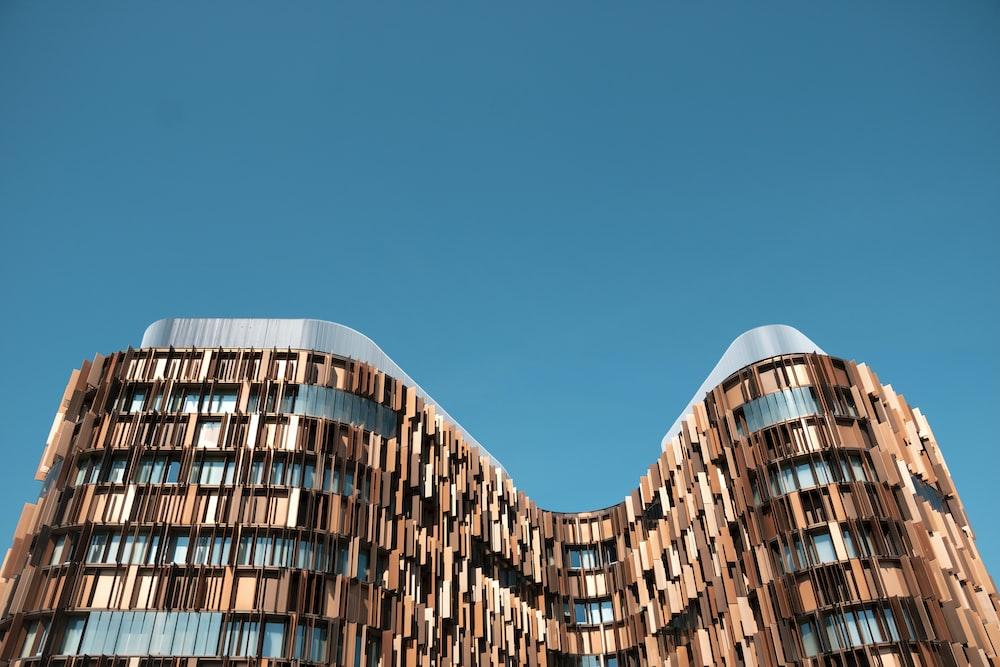 brown painted building