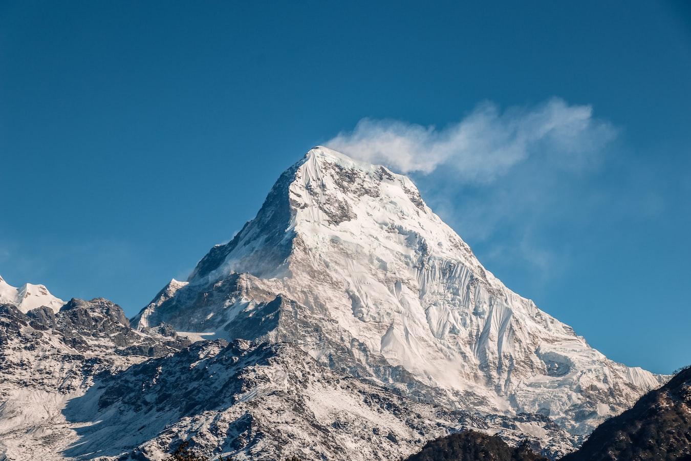 A Himalayan mountain near Kathmandu, Nepal