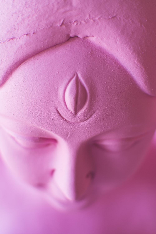 buddha pink statue