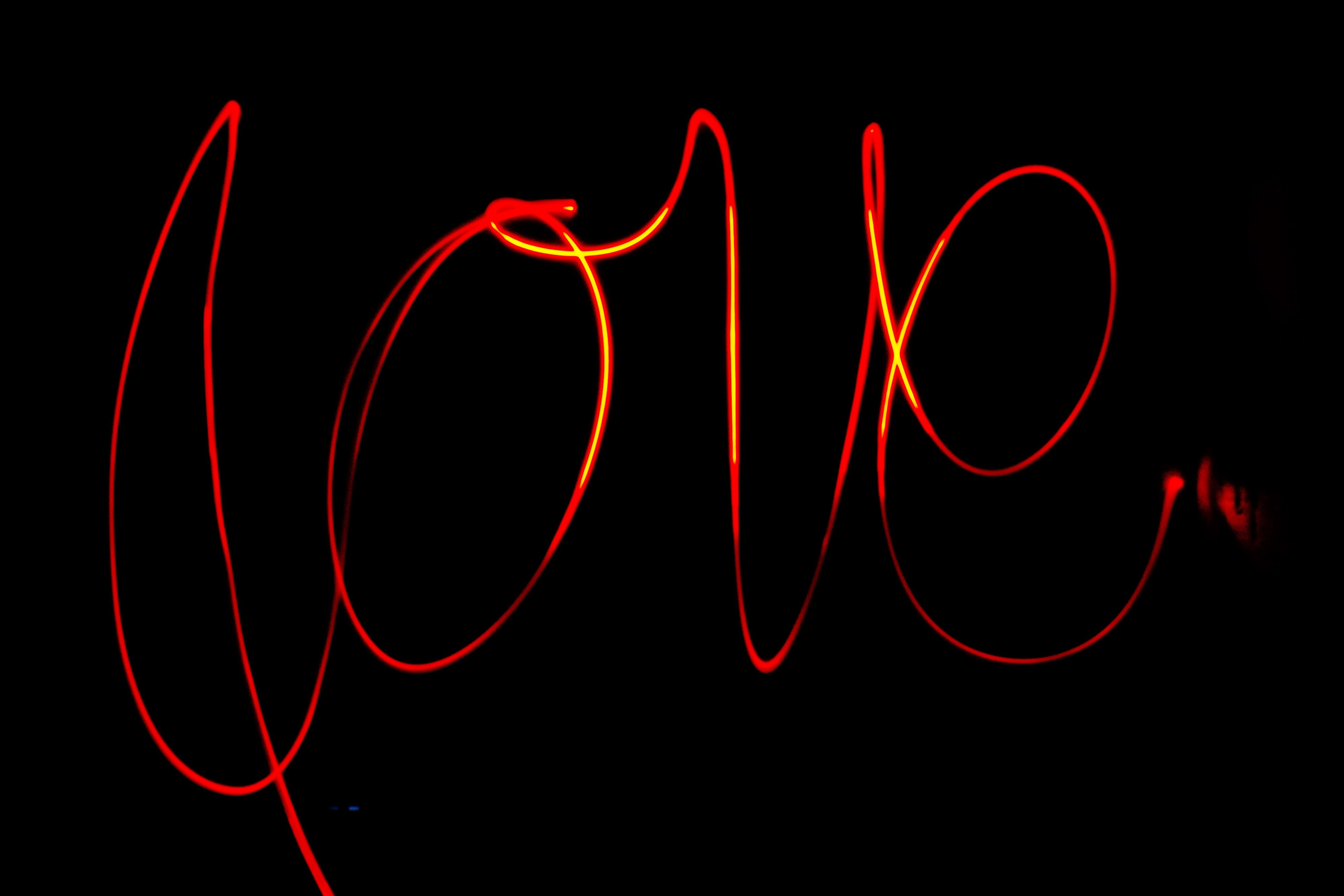 black background with love text overlay
