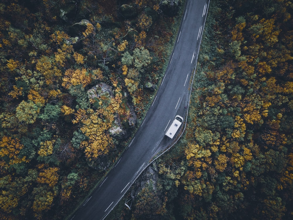aerial photography of road during daytime