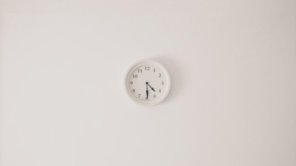 round white wall clock