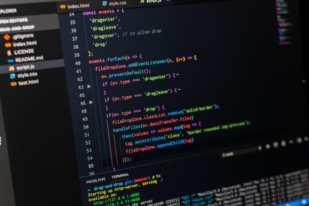 computer monitor screengrab