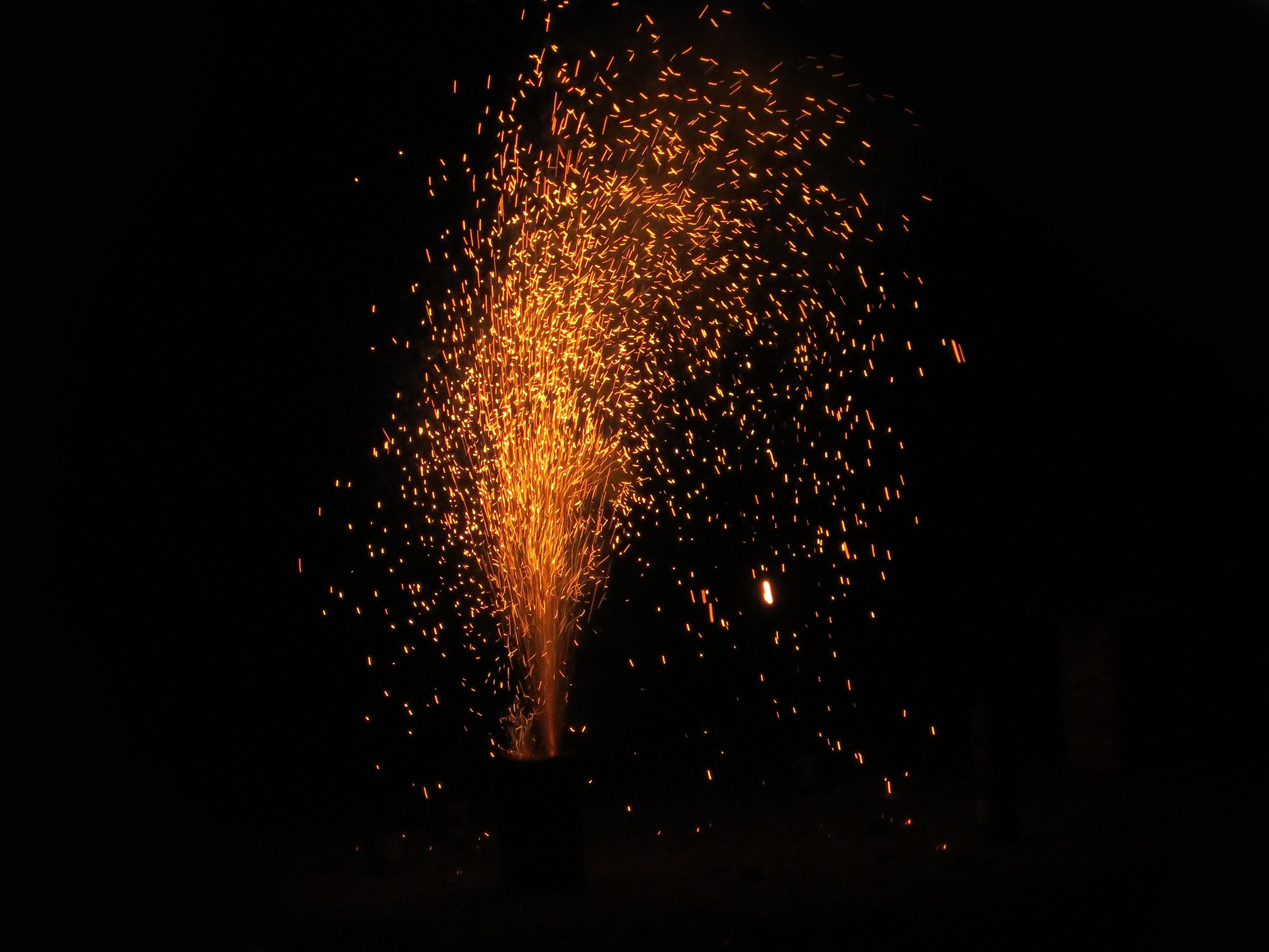 orange fireworks