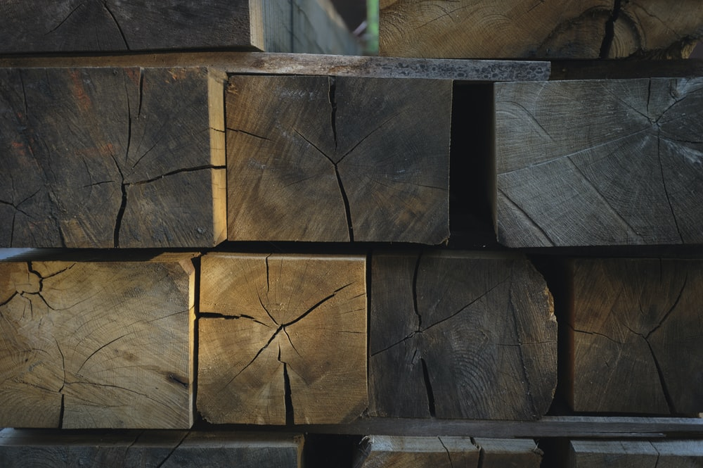 close up photography of wood lumbers