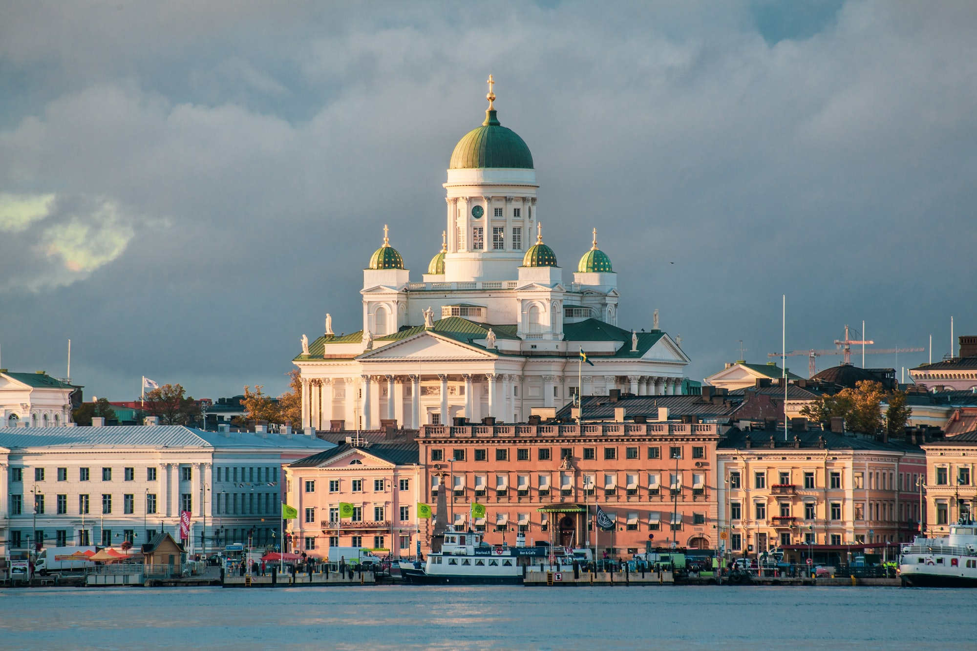 Helsinki Cathedral in Autumn Sunset