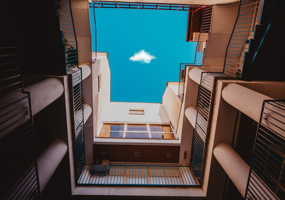 lowangle photography of buildings