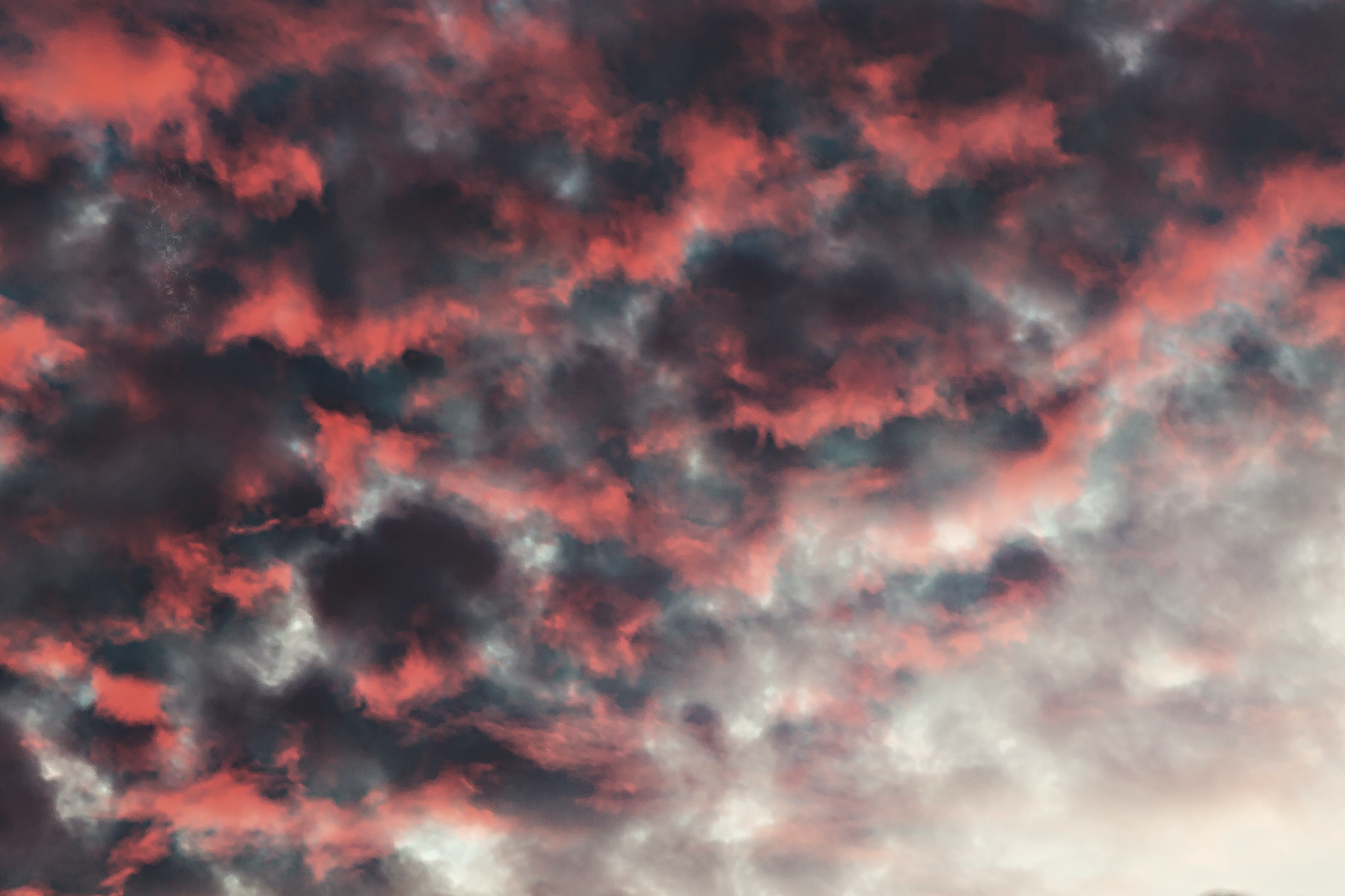 red, black, and grey cloud