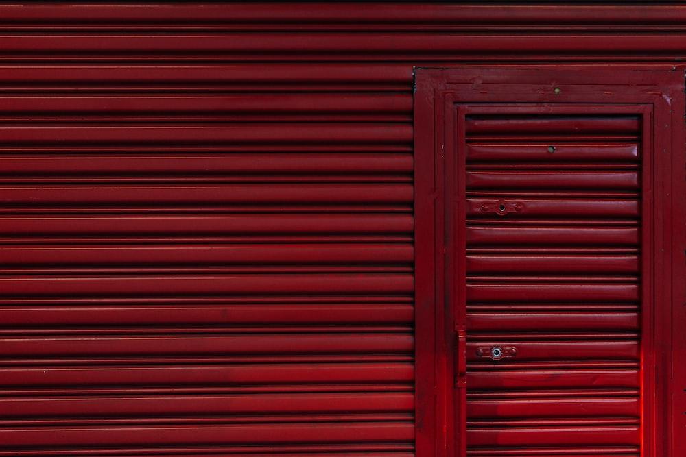 red door shutter