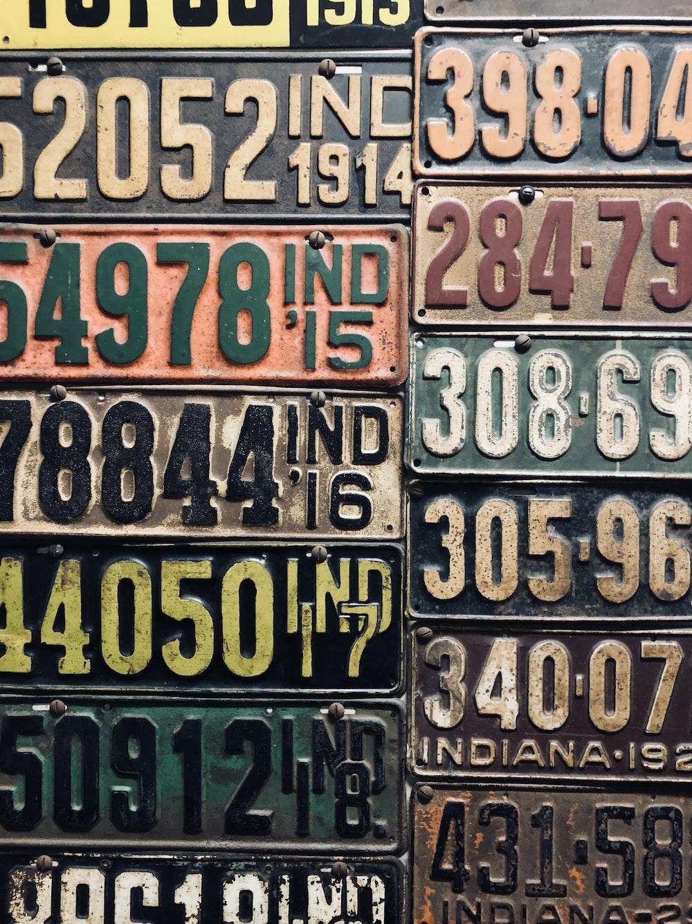car license plate lot