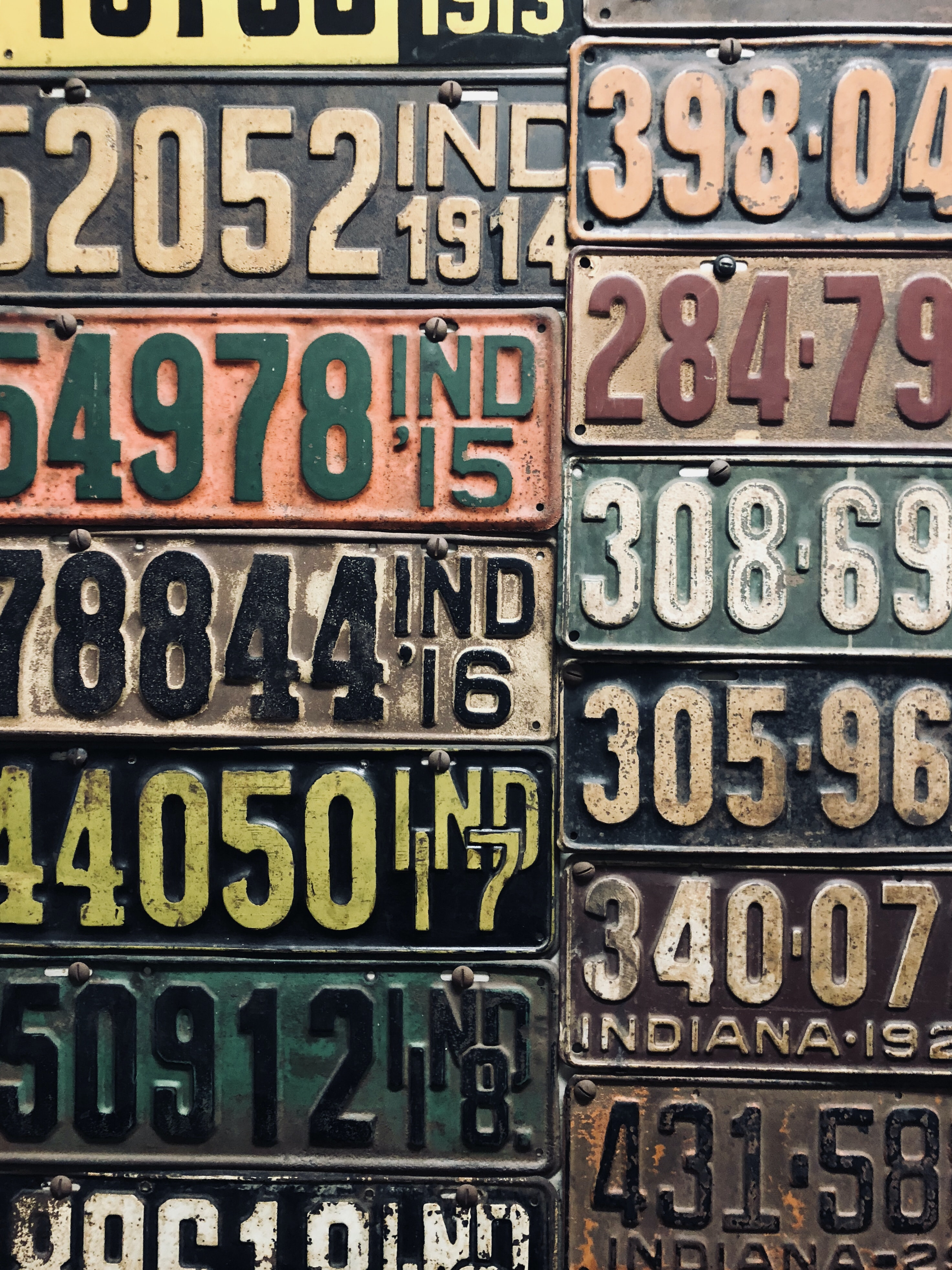 car license plate lot