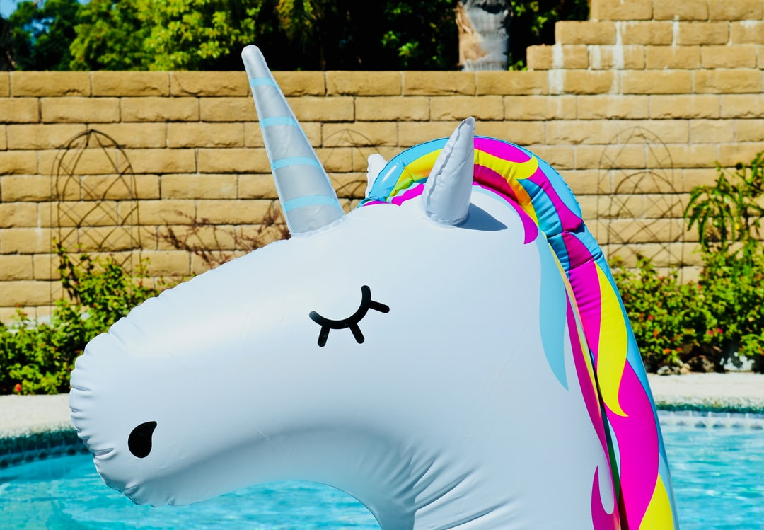 It is almost always summer feeling in Southern California… what better way to enjoy the pool than on a unicorn float.