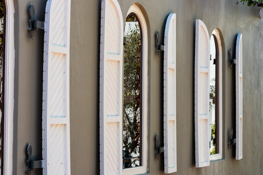 opened white wooden window