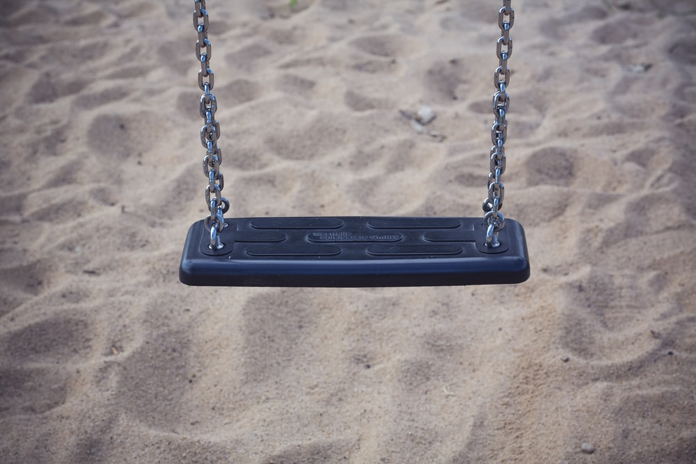black and gray swing