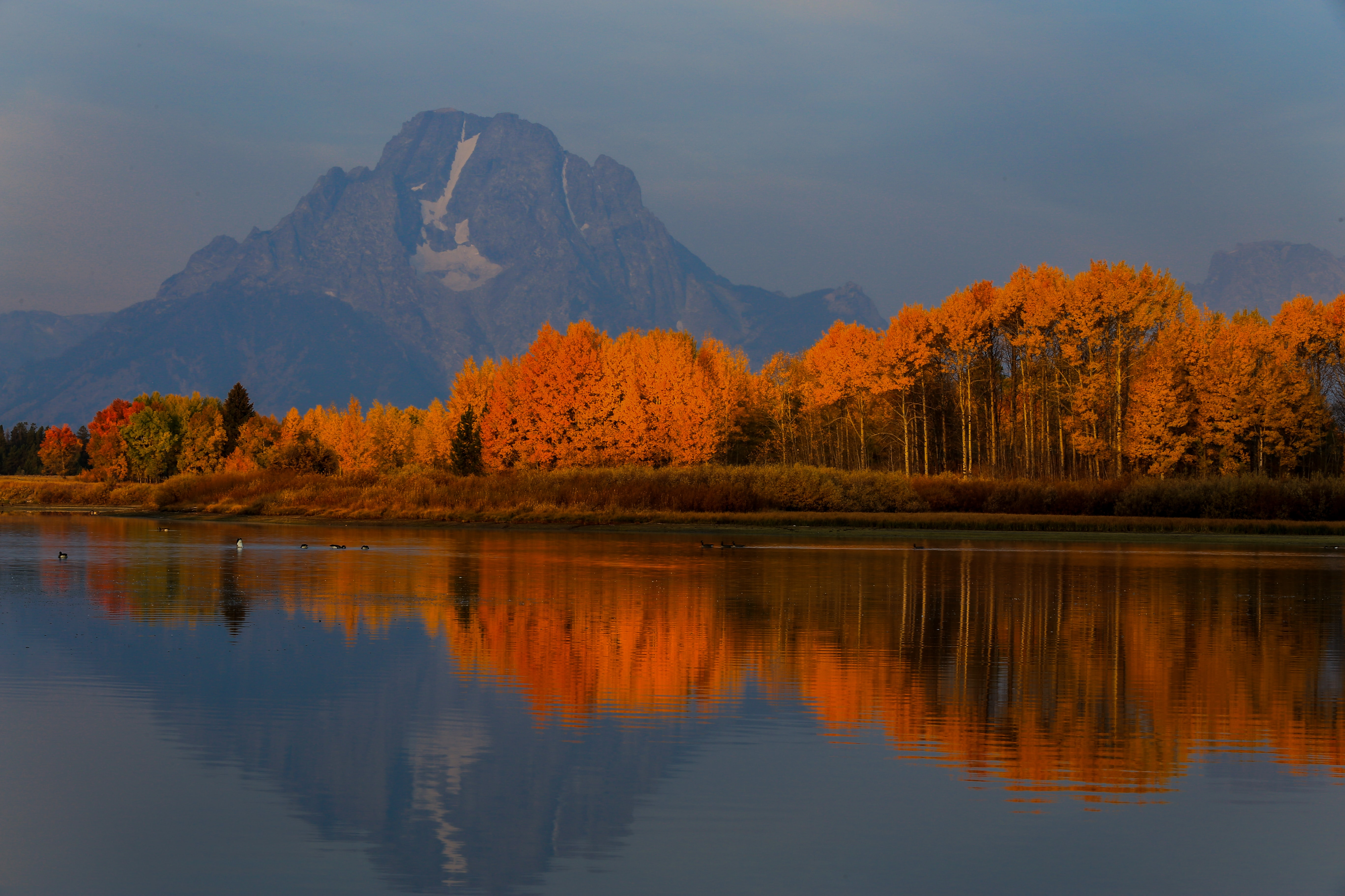 landscape photography of mountains and lake