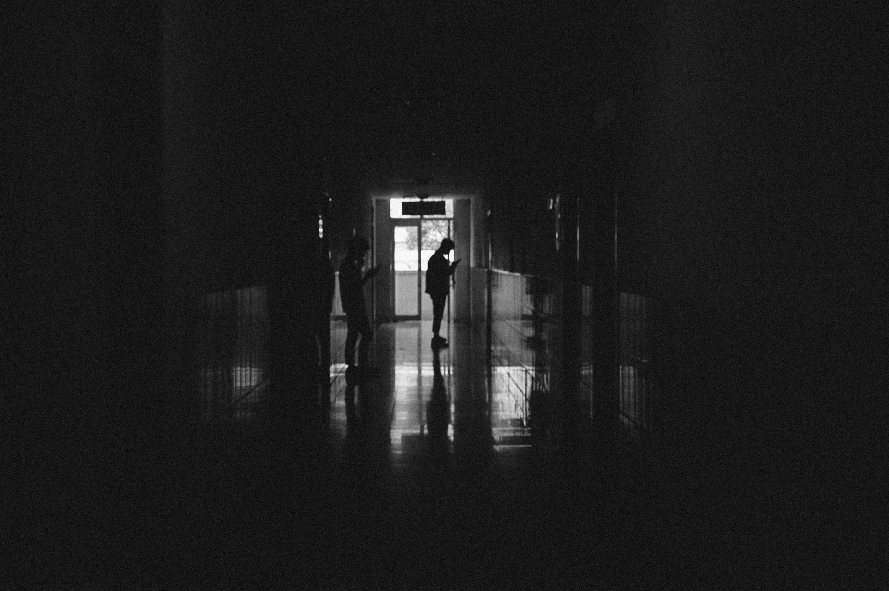 silhouette photography of man