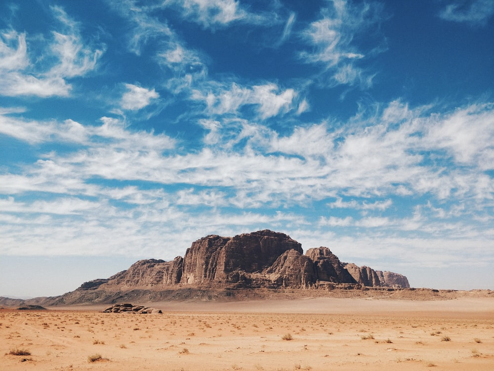 landscape photography of mountains and sky