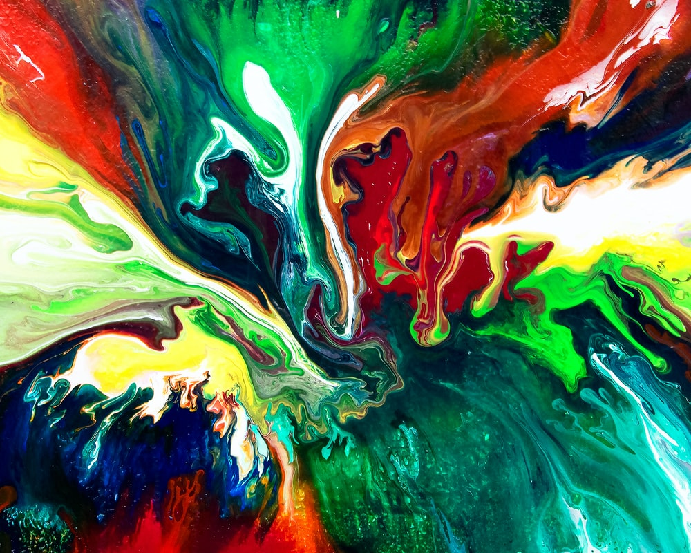 multicolored absract painting