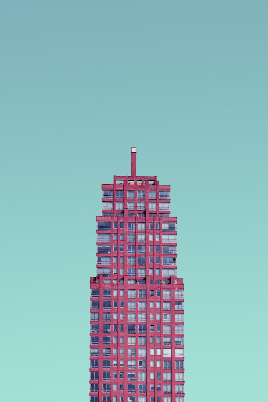 red metal building frame
