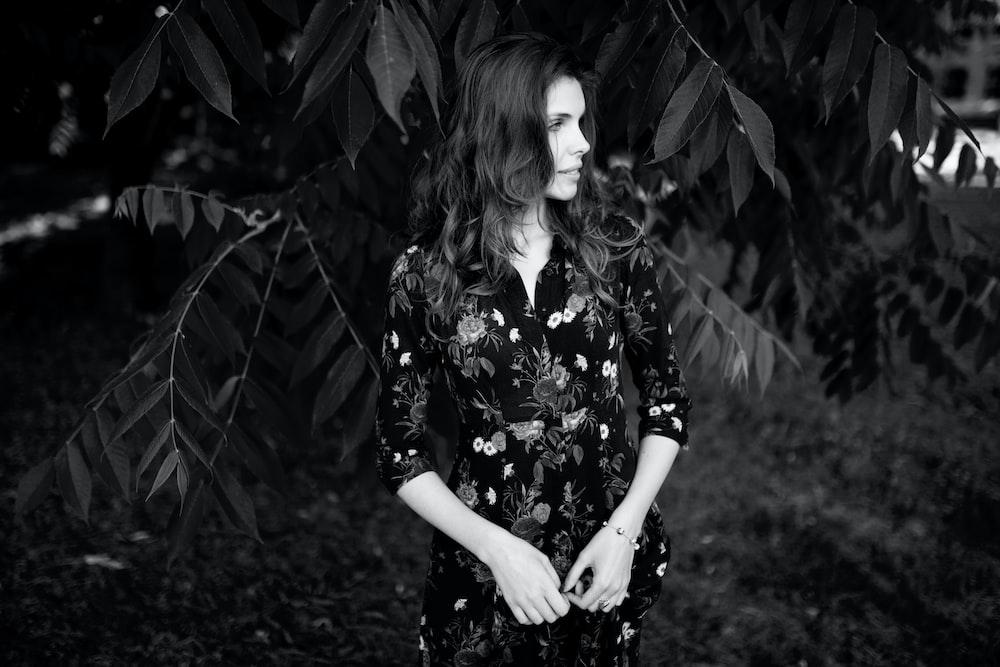 woman standing near treee