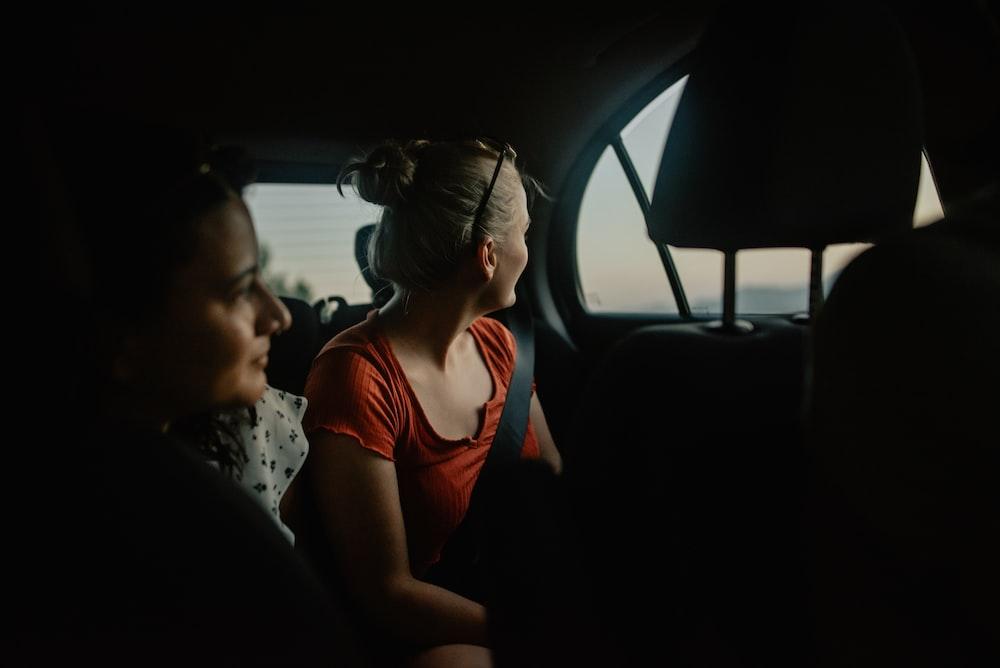 women inside vehcle