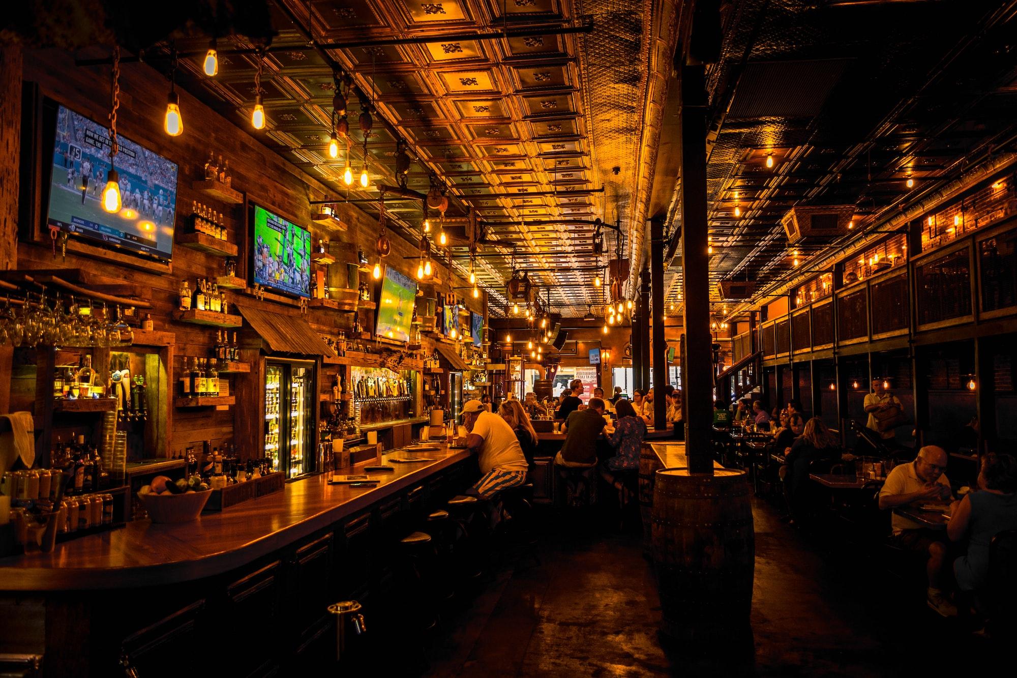 Taken inside prohibition kitchen in St. Augustine, FL on St. George St. A beautifully designed prohibition era restaurant.