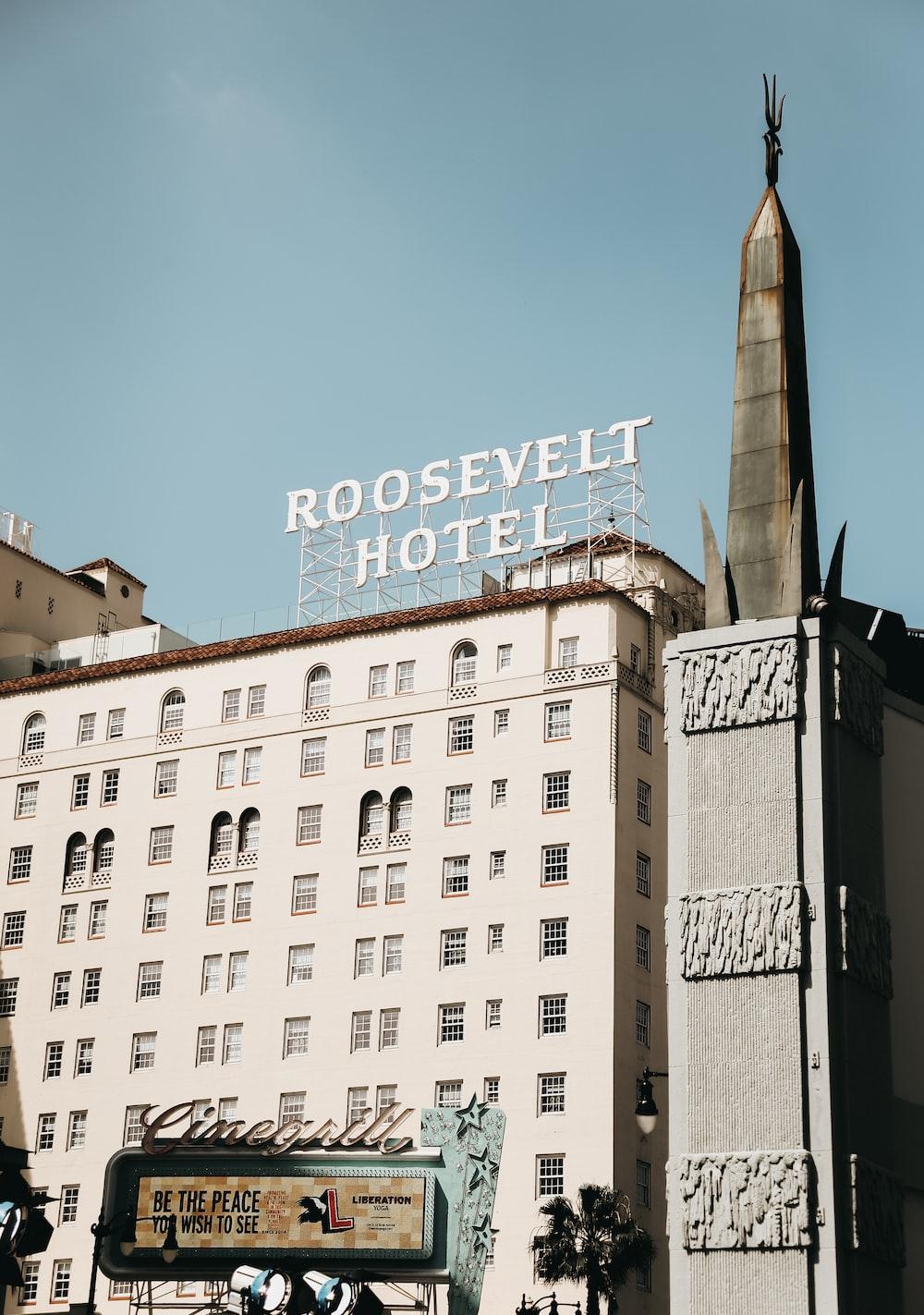 Roosevelt Hotel signage
