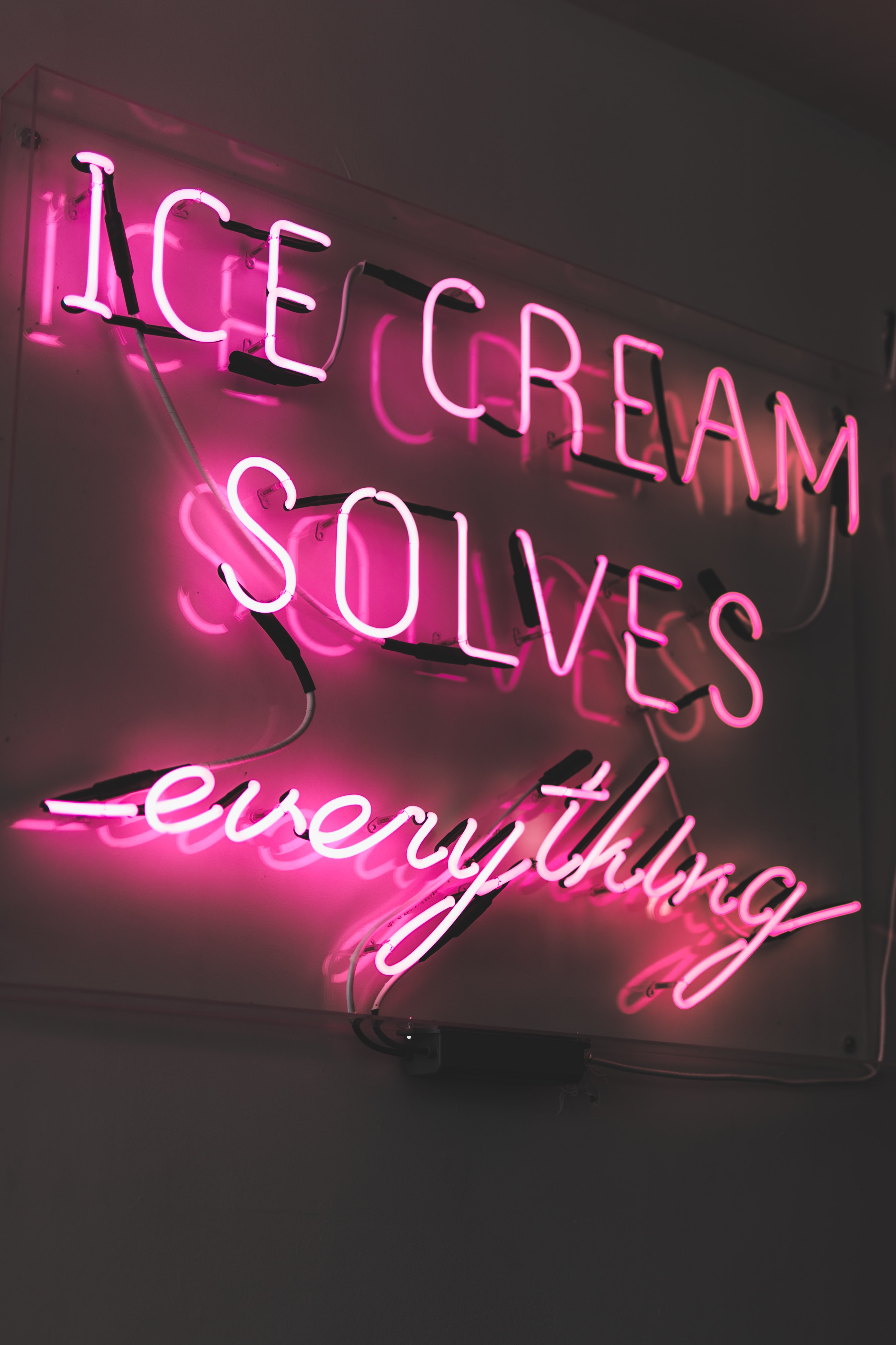 pink ice cream LED sign