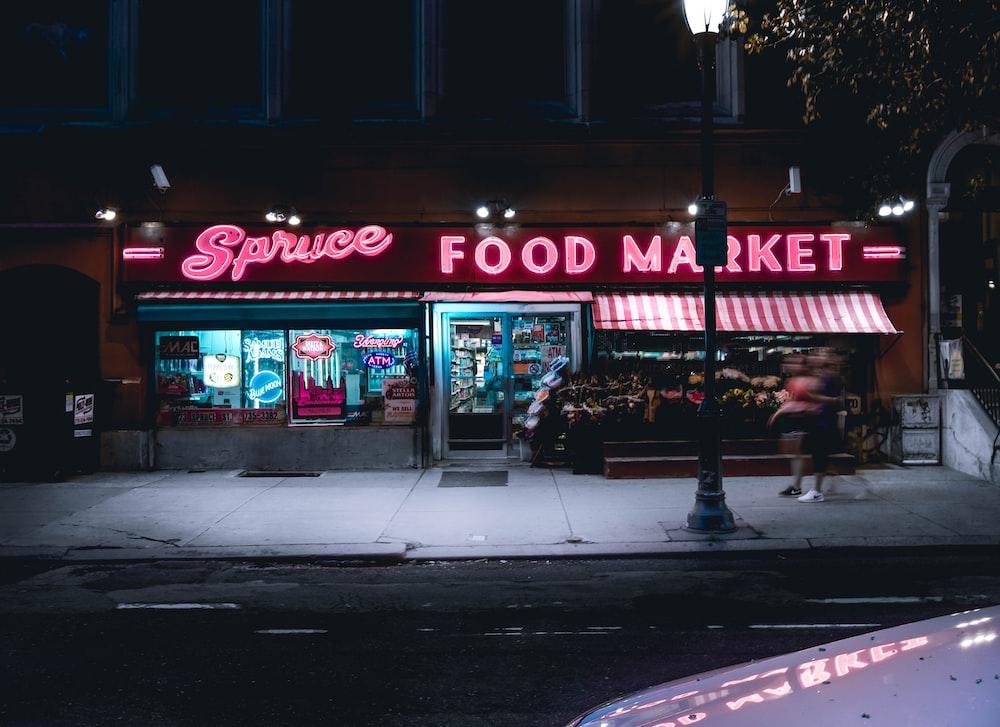 Spruce food market building