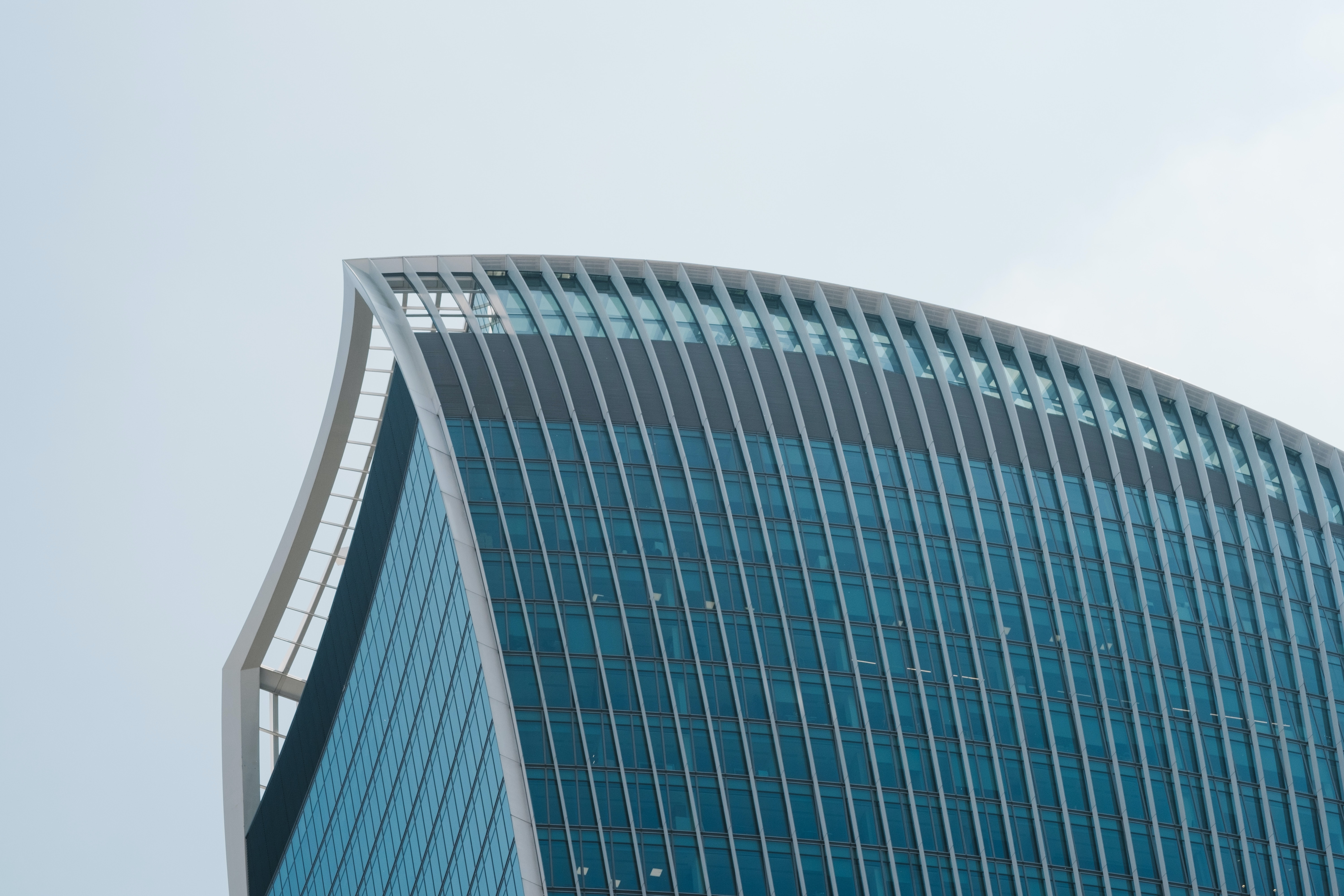 low-angle photography of high rise building