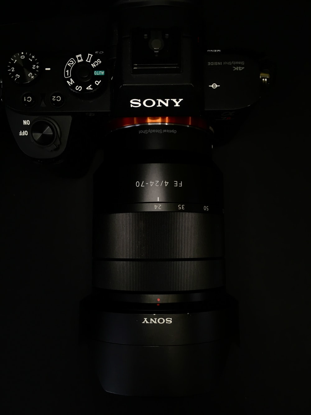 black Sony DSLR camera