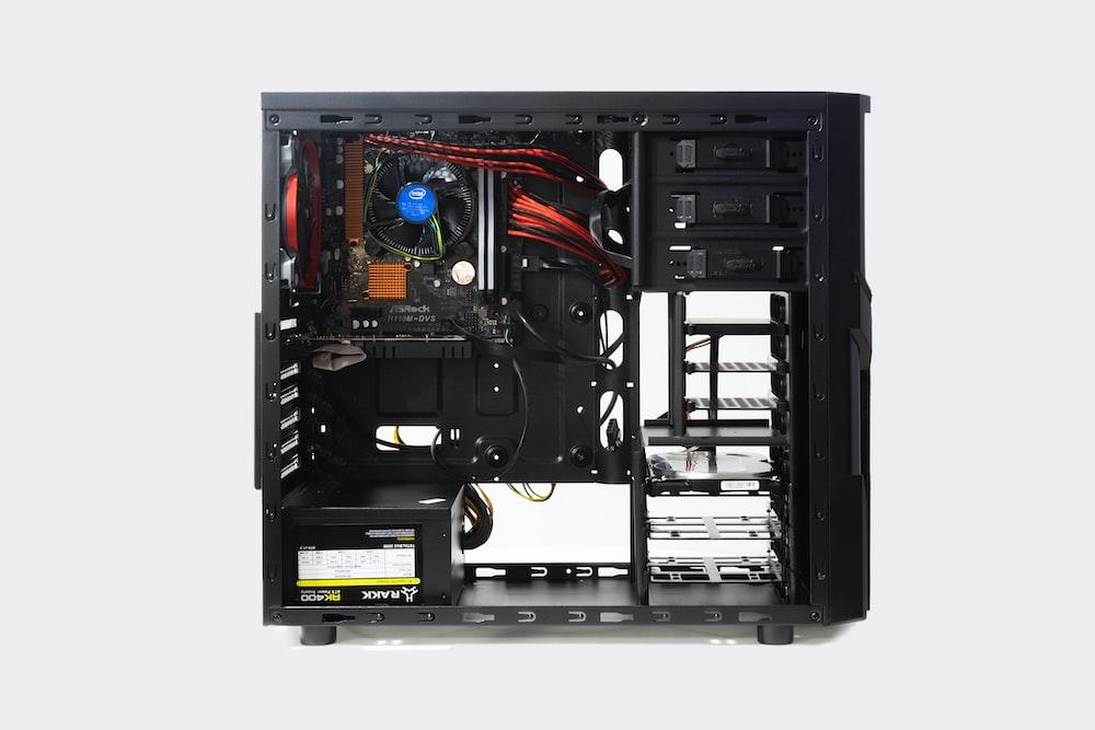 black computer tower
