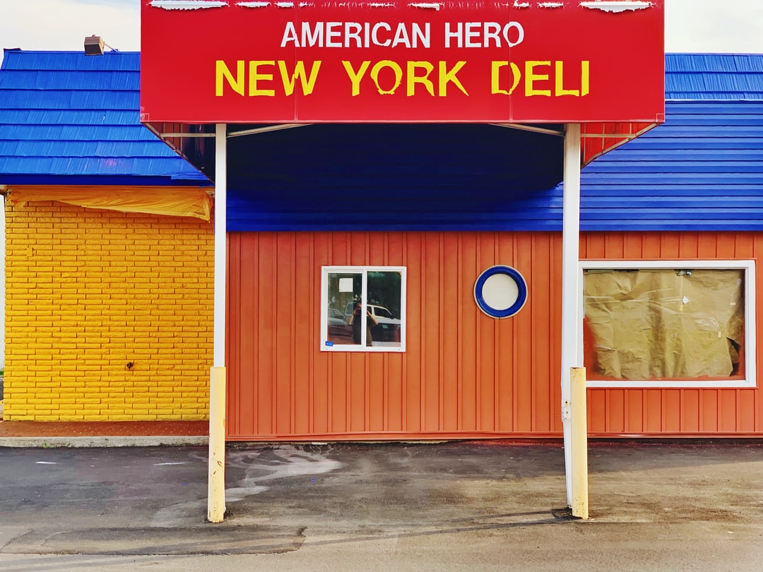 An abandoned Deli in Durham, NC. (Despite the New York naming).  I saw this as I was going to the restaurant next door, and loved how the colors and shapes came together in such a nice way.
