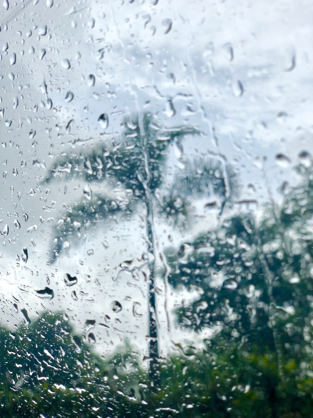 water droplets in glass panel