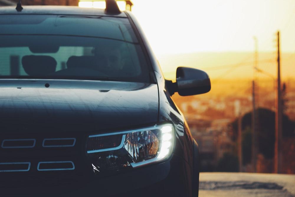 black car during daytime