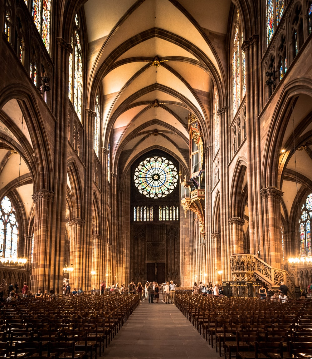 person inside cathedral