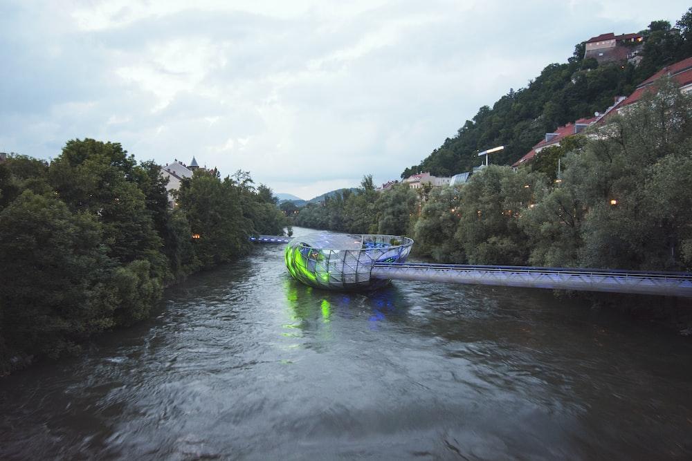 boat floating on wate