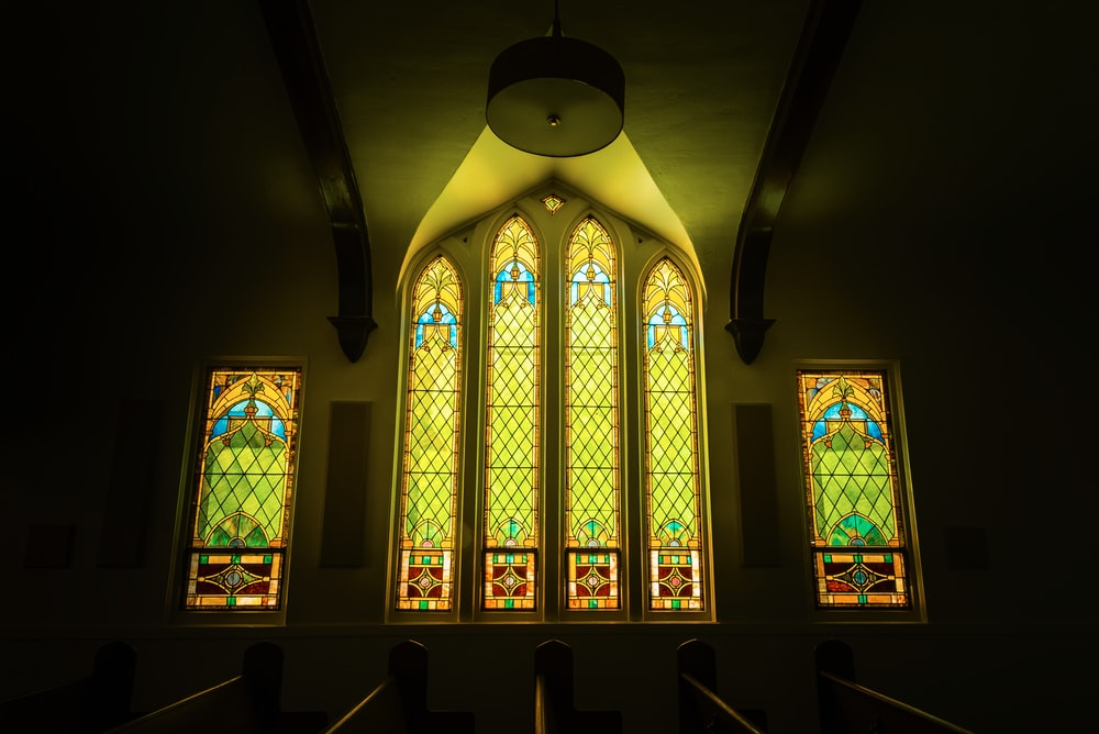sunlight hits cathedral window
