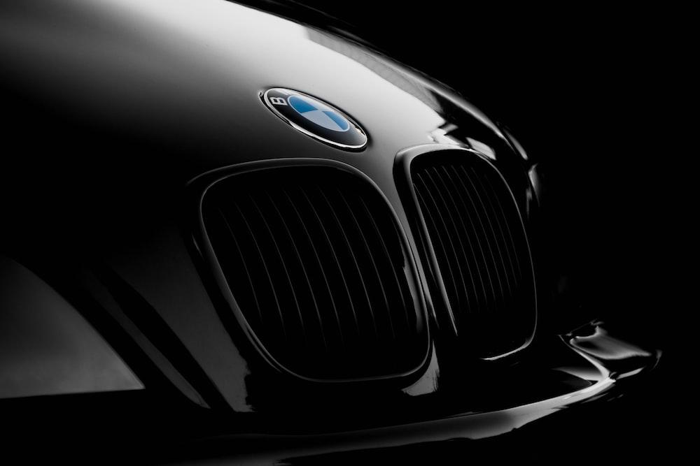 black BMW front end