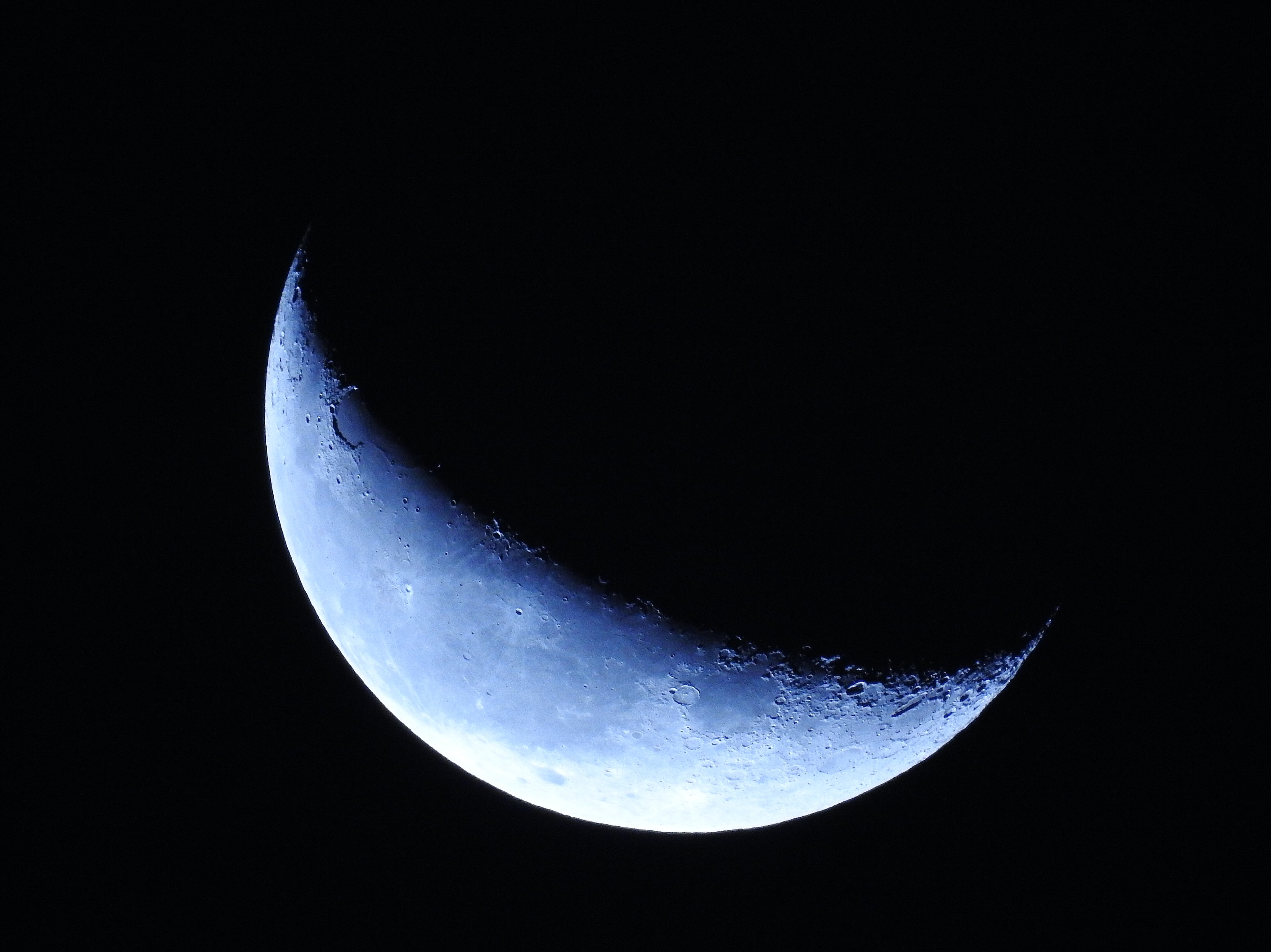 aerial photography of moon