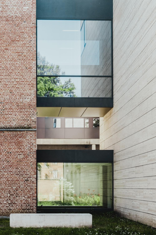 black framed glass house facade