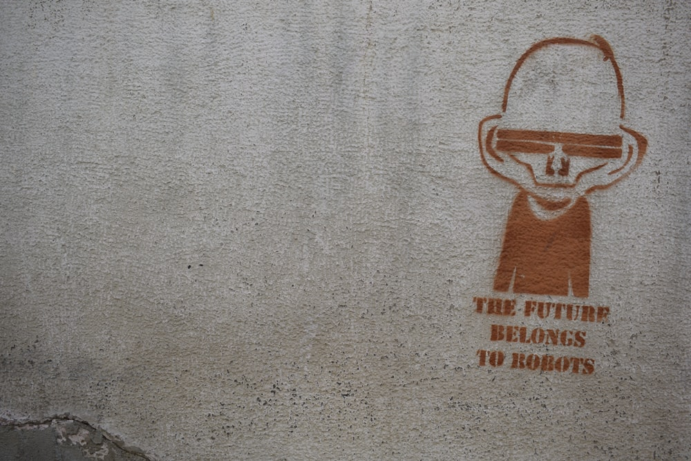 The future belongs to robots artwork