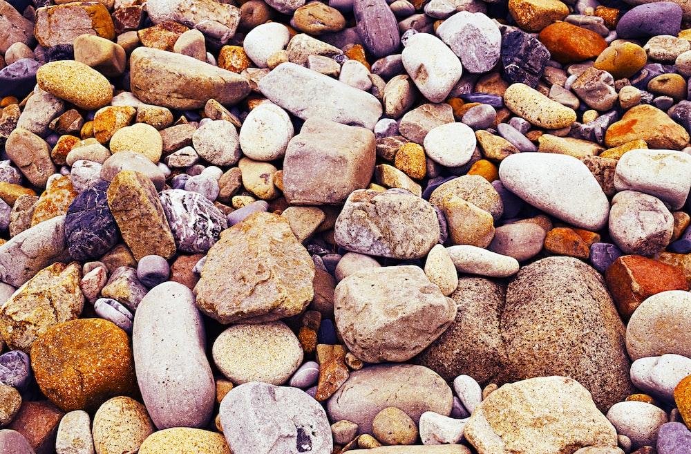 assorted-color rocks
