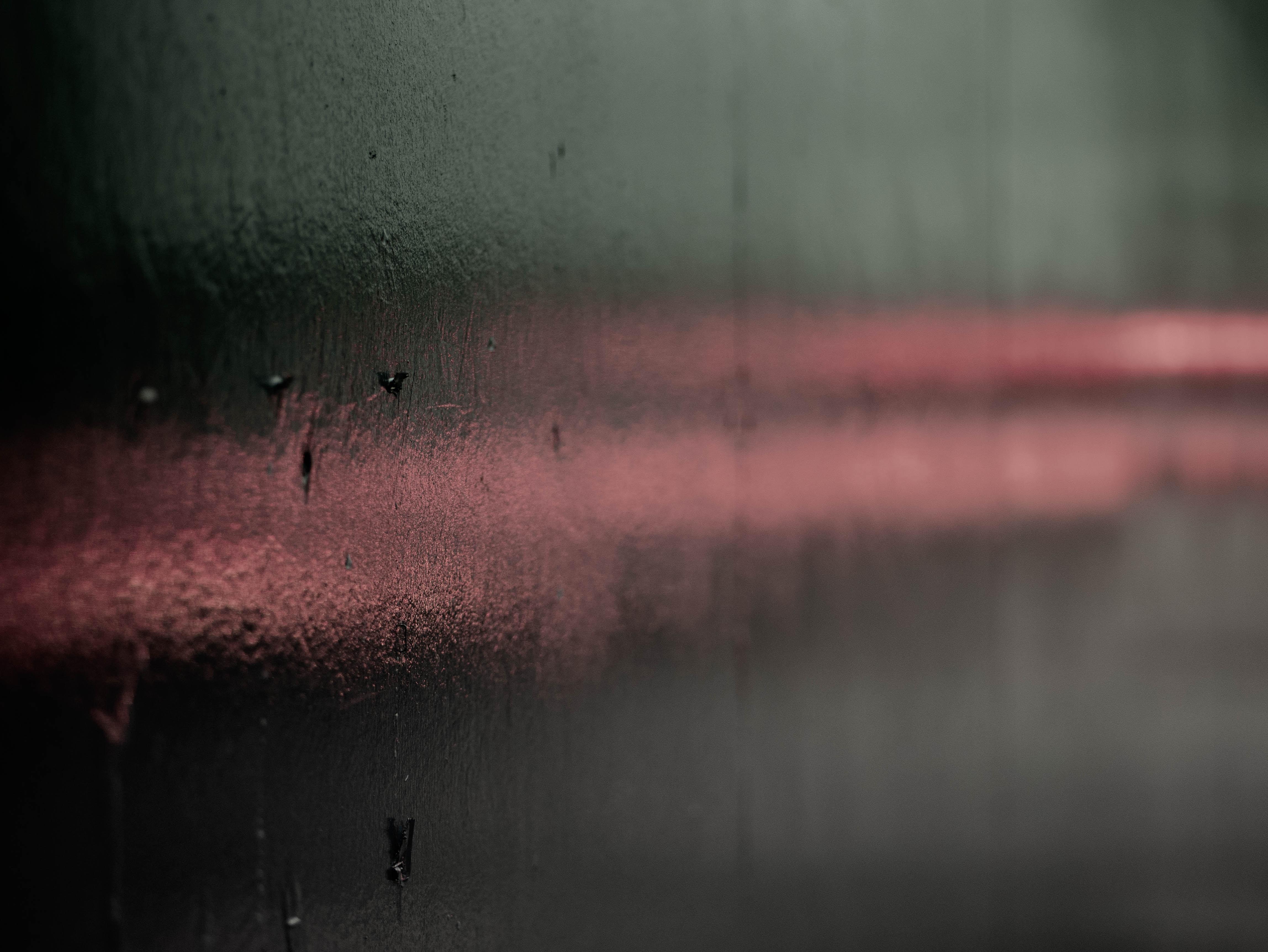 glass moist macro photo