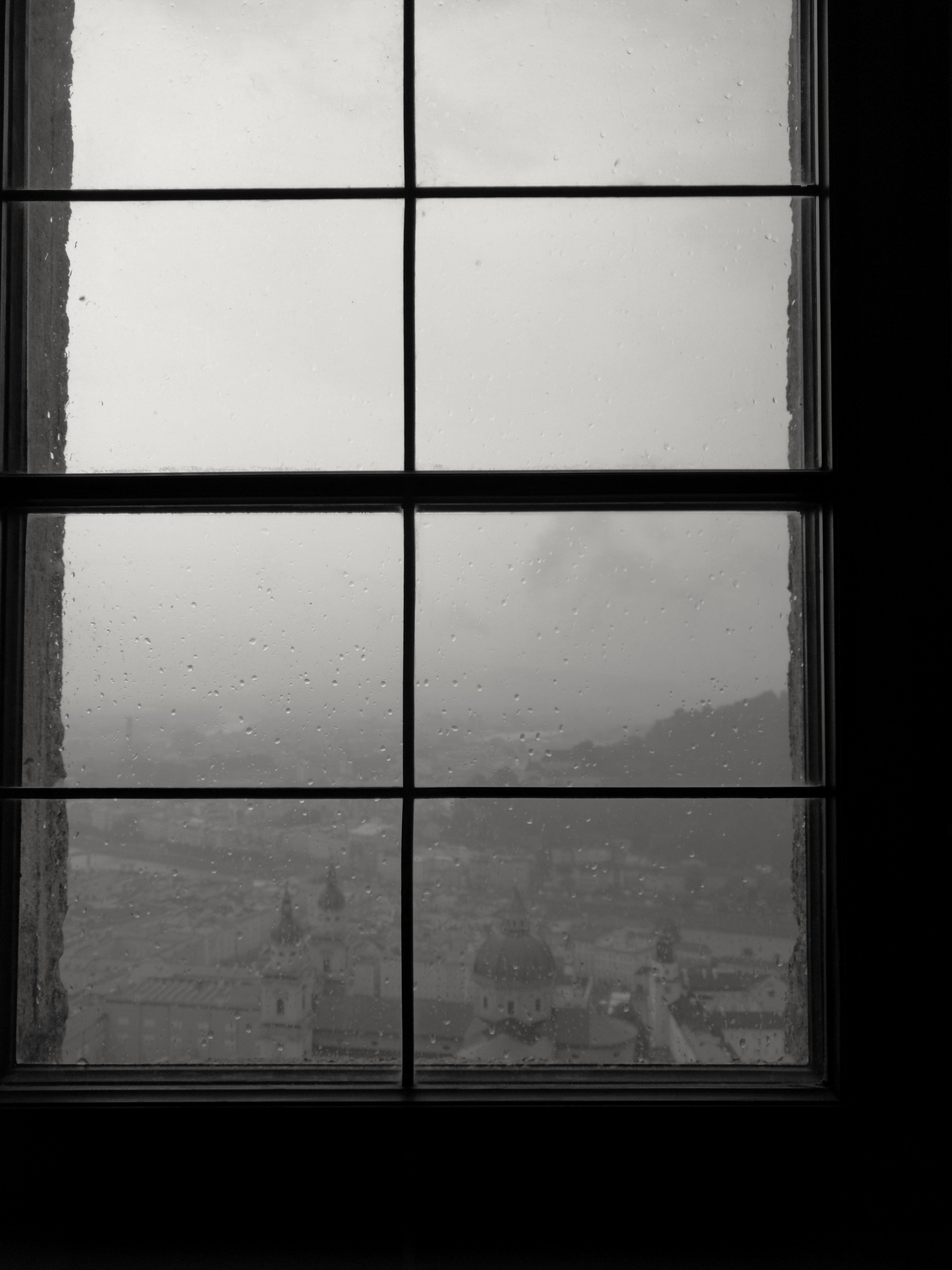closed windowpane