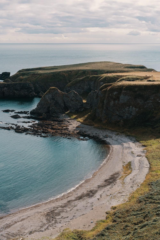 rock beside ocean