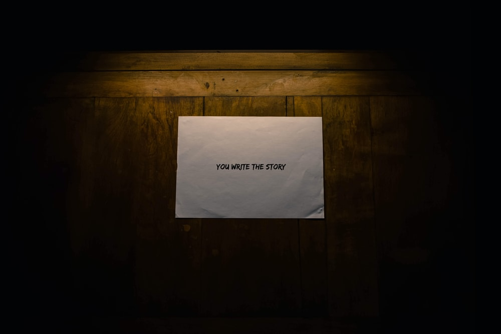 you write the story on white printer paper