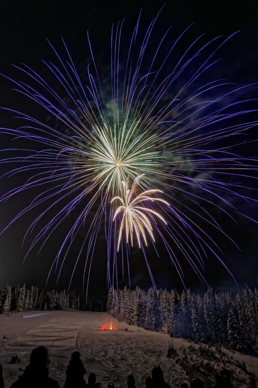 firework during nighttime